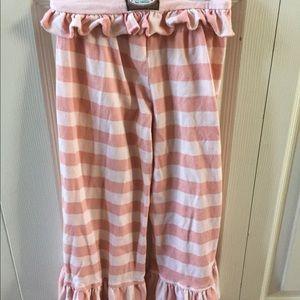 Persnickety pink stripe ruffle pants